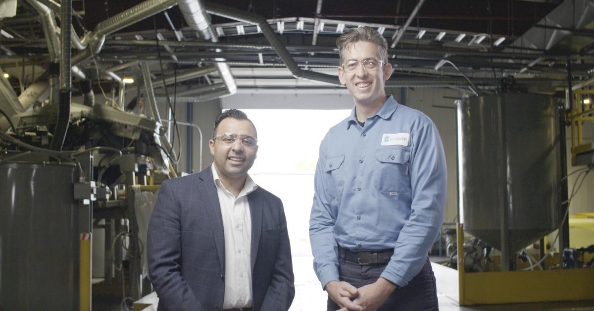 Li-Cycle co-founders Ajay Kochhar, left, and Tim Johnston.